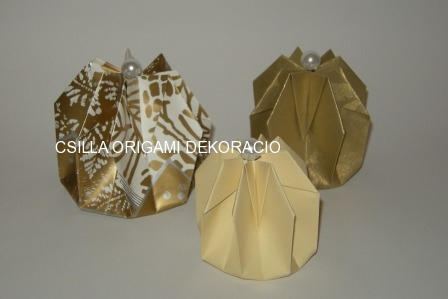 Origami bonbontartó