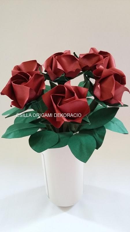Mcs15.sz Origami rózsa kicsi