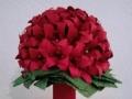 Mcs1.sz Piros origami liliom csokor