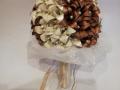 Mcs48.sz. Barna-ekrü Menyasszonyi liliomos csokorr