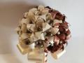 Mcs49.sz. Barna-ekrü Menyasszonyi liliomos csokor