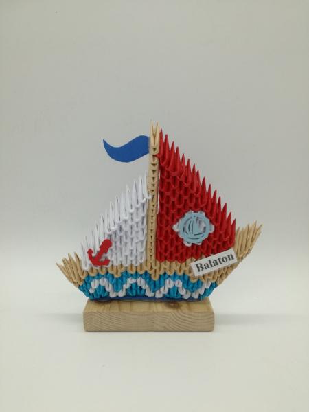 Ny.9. 3d origami  Kétoldalas Vitorlás