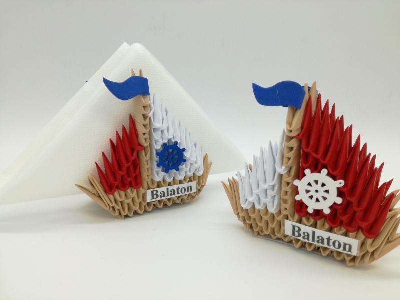 Ny.5. 3d origami szalvétatartó vitorlás