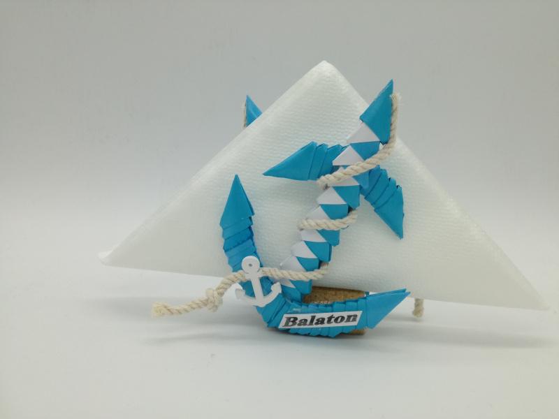 Ny.6. 3d origami szalvétatartó horgony