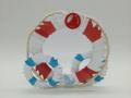 Ny.15 3d origami Mentőöves álló  kétoldalas dísz