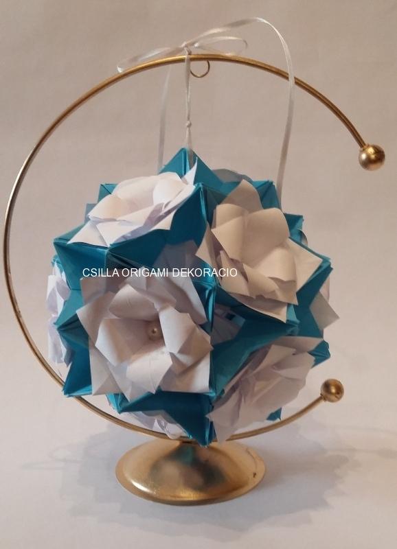 G15.sz. Liliomos origami gömb