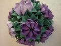 G3.sz. origami lila virág gömb
