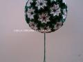 """G2.sz.origami zöld-fehér """"vénusz"""" gömb"""