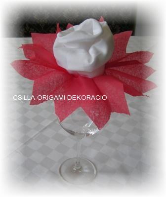 Sz1.szalvéta rózsa