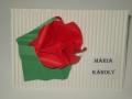 Ü1.Origami virágos ültetőkártya