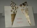 MÜ1.Csokornyakkendős origami ültető és menükártya